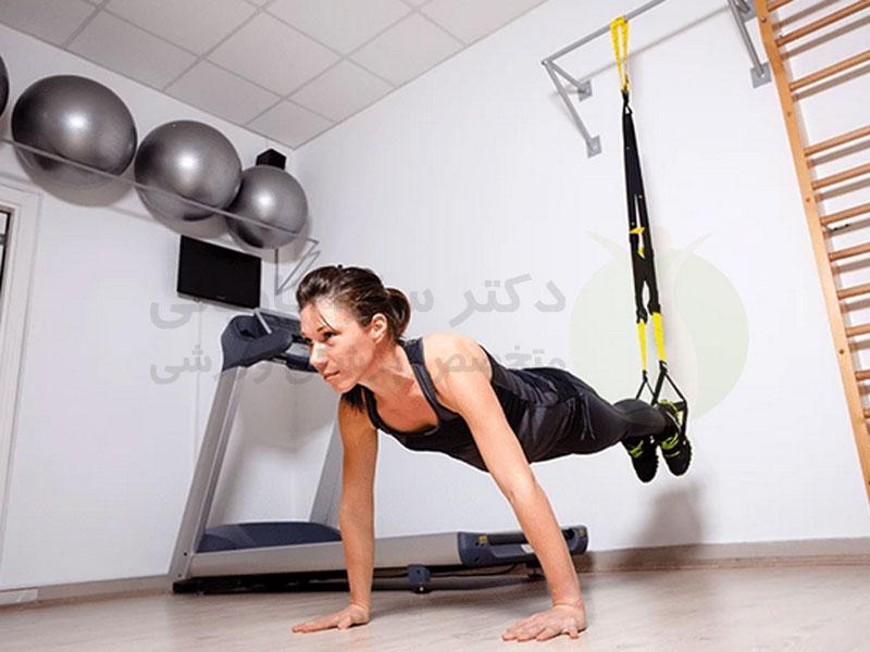 تمرینات با کش بدنسازی (TRX)